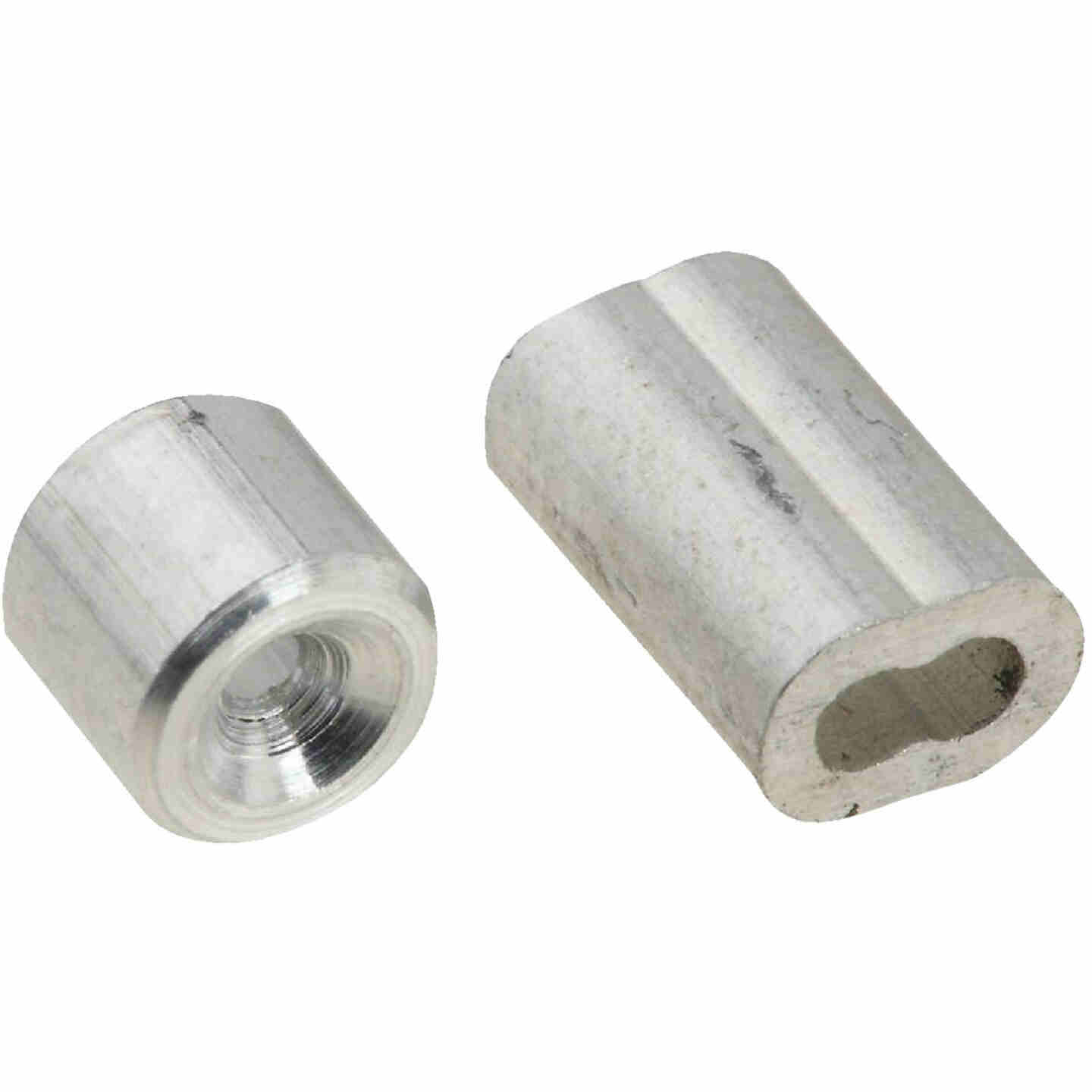 National 1/16 In. Aluminum Garage Door Ferrule & Stop Kit Image 1