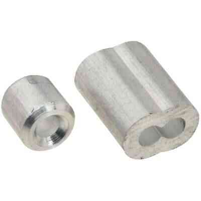 National 1/8 In. Aluminum Garage Door Ferrule & Stop Kit