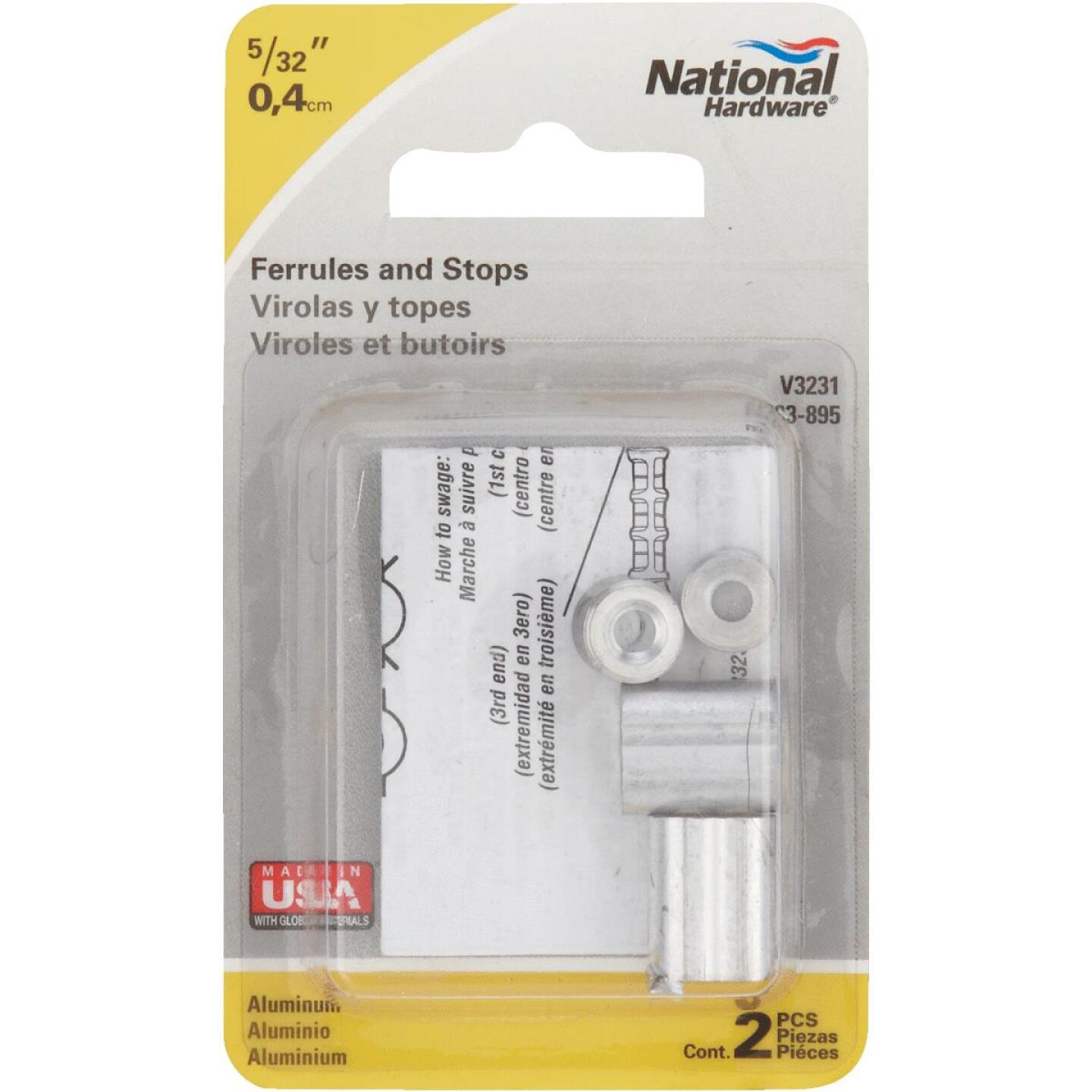 National 5/32 In. Aluminum Garage Door Ferrule & Stop Kit Image 2