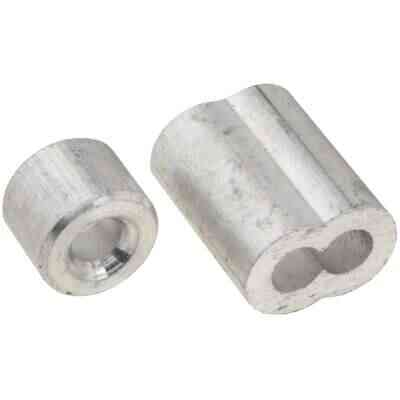 National 5/32 In. Aluminum Garage Door Ferrule & Stop Kit