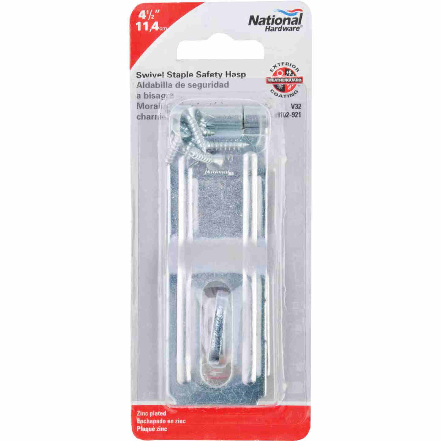 National 4-1/2 In. Zinc Swivel Safety Hasp Image 2