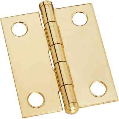 National 1-1/4 In. x 1-1/2 In. Brass Ball Tip Hinge (2-Pack)