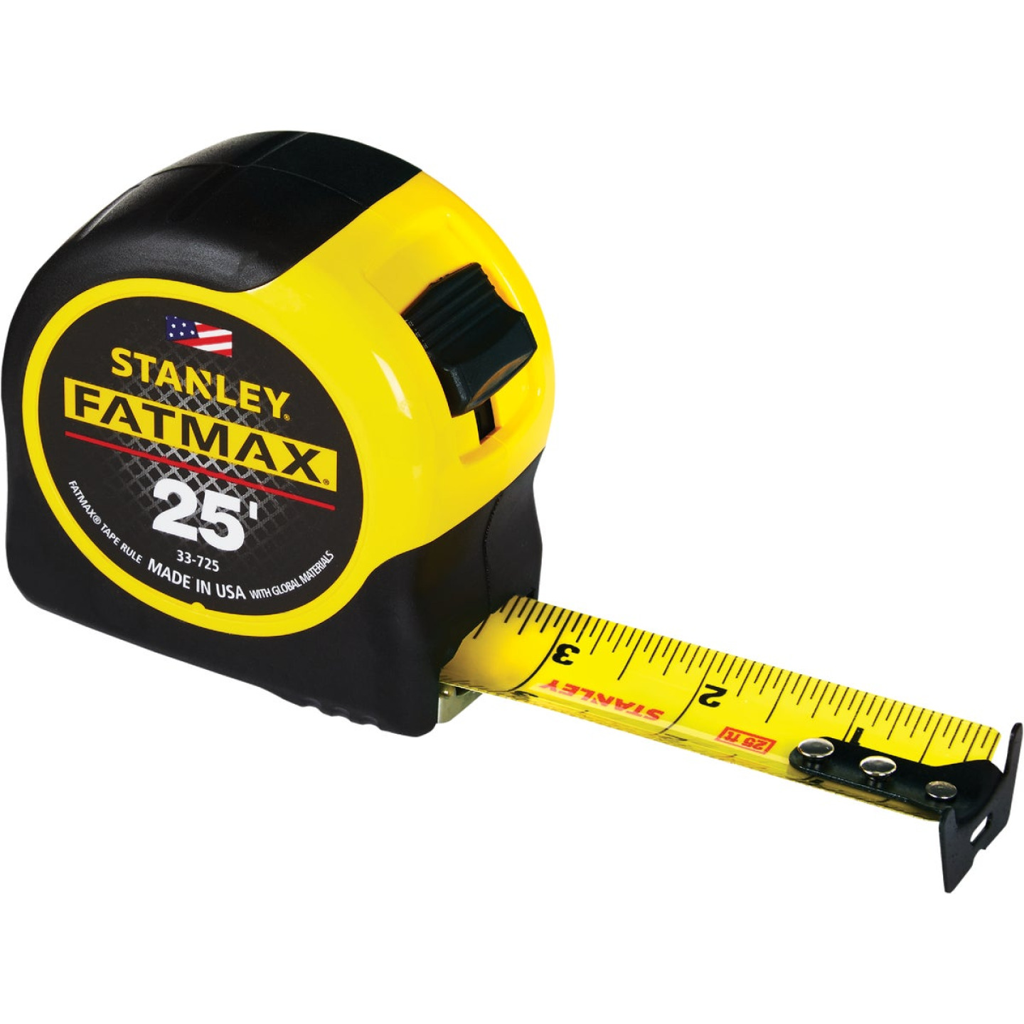 Stanley FatMax 25 Ft. Classic Tape Measure with 11 Ft. Standout Image 1