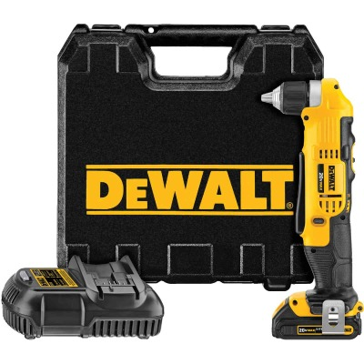 DeWalt 20 Volt MAX Lithium-Ion 3/8 In. Cordless Angle Drill Kit