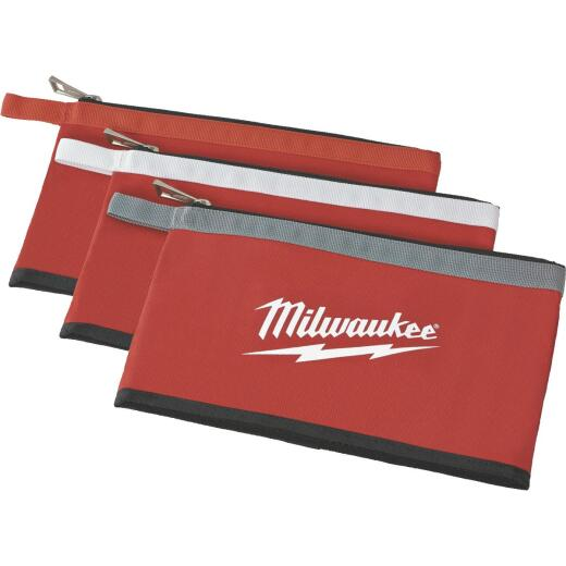 Milwaukee Single-Pocket Multipurpose Zippered Tool Pouch (3-Set)