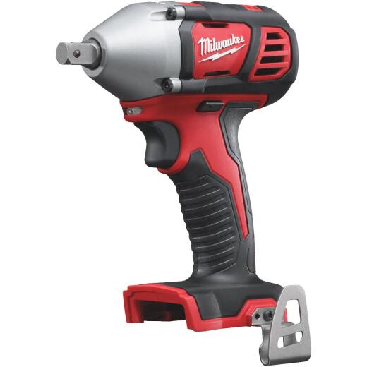 Milwaukee M18 18 Volt Lithium-Ion 1/2 In. Cordless Impact Wrench with Pin Detent (Bare Tool)