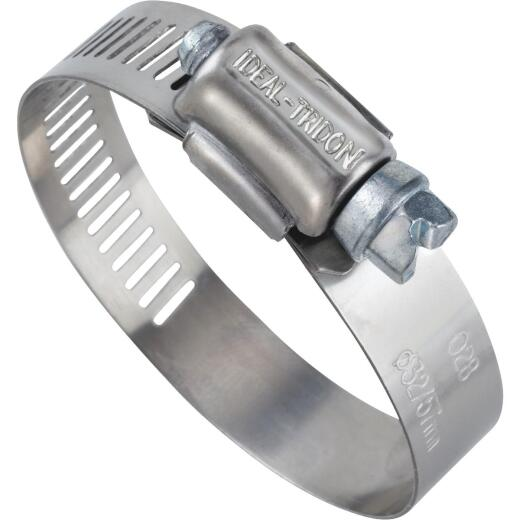 Ideal 2 In. - 3 In. 57 Stainless Steel Hose Clamp with Zinc-Plated Carbon Steel Screw