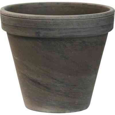 Ceramo 5-1/4 In. H. x 6 In. Dia. Dark Basalt Clay Standard Flower Pot