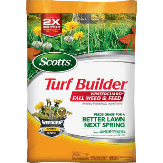 Scotts Turf Builder WinterGuard Weed & Feed 14.29 Lb. 5000 Sq. Ft. 28-0-6 Winterizer Fall Fertilizer