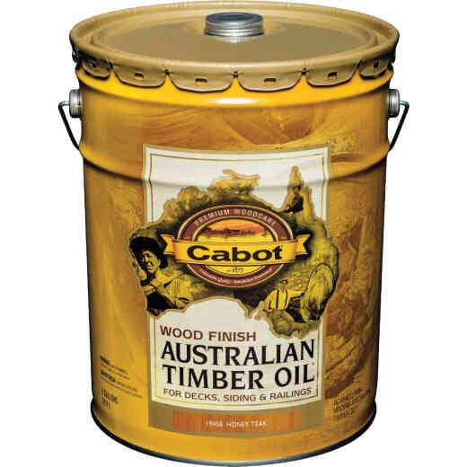 Cabot Australian Timber Oil Water Reducible Translucent Exterior Oil Finish, Honey Teak, 5 Gal.
