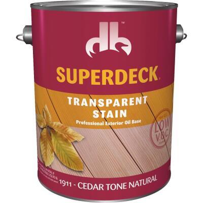 Duckback SUPERDECK VOC Transparent Exterior Stain, Cedar Tone Natural, 1 Gal.