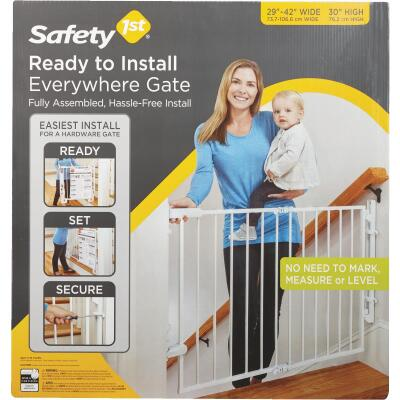 Safety 1 Ready to Install White Top of Stairs Safety Gate